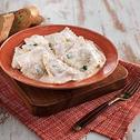 Spinach Ravioli with Yogurt Sauce