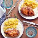 Csirkemell kéksajtos mártással