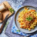 Bolognai ragu pirított zöldség köreten